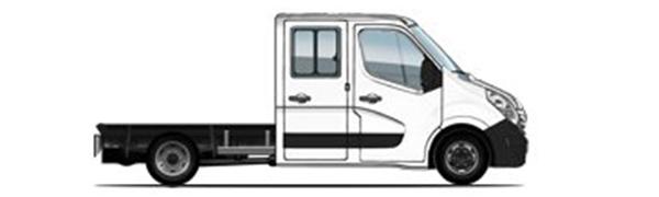 Modelo Renault Master Chasis Doble Cabina -
